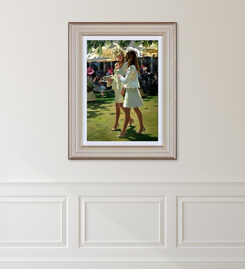 The Colour and Glamour of Ascot by Sherree Valentine Daines - Limited Edition Canvas on Board wall setting